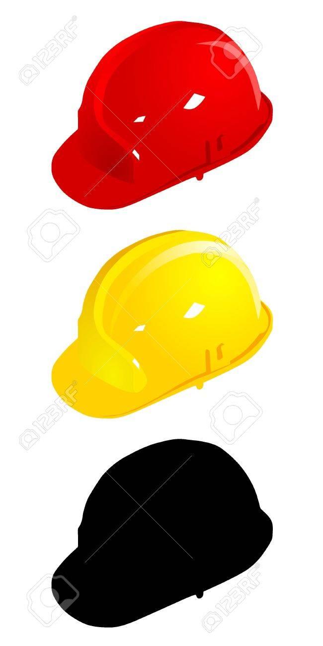 Set of colored helmets. vector Stock Vector - 11942848