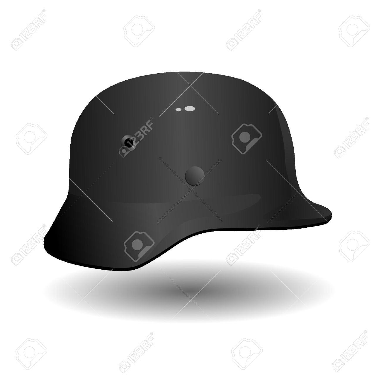 Vector German military helmet