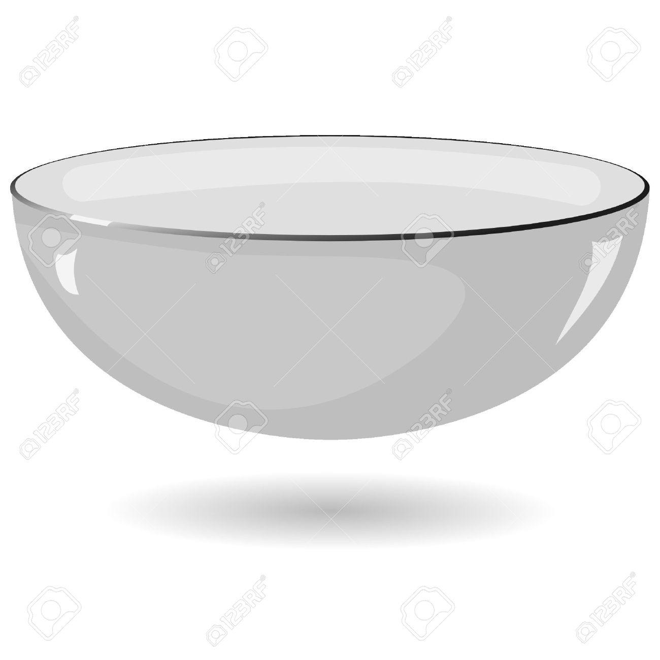 Vector illustration of a metal bowl on a white background Stock Vector - 11942720
