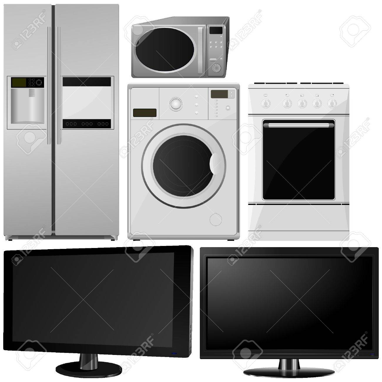 set of of household appliances. vector Stock Vector - 11943049