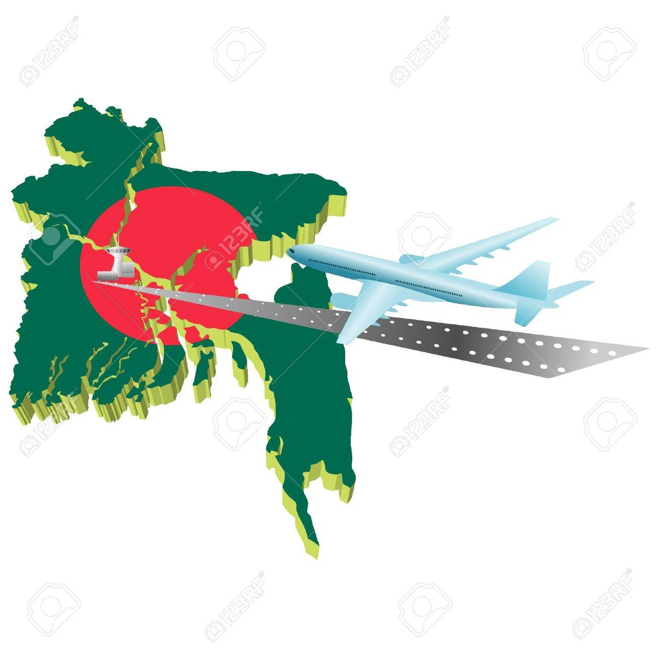 Air travel in Banglades Stock Vector - 12017565
