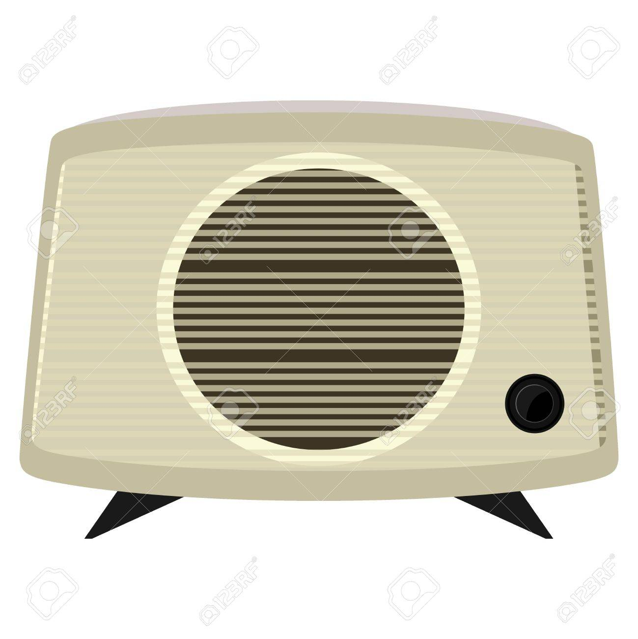 Vector illustration of an old radio  in a plastic case Stock Vector - 12021433