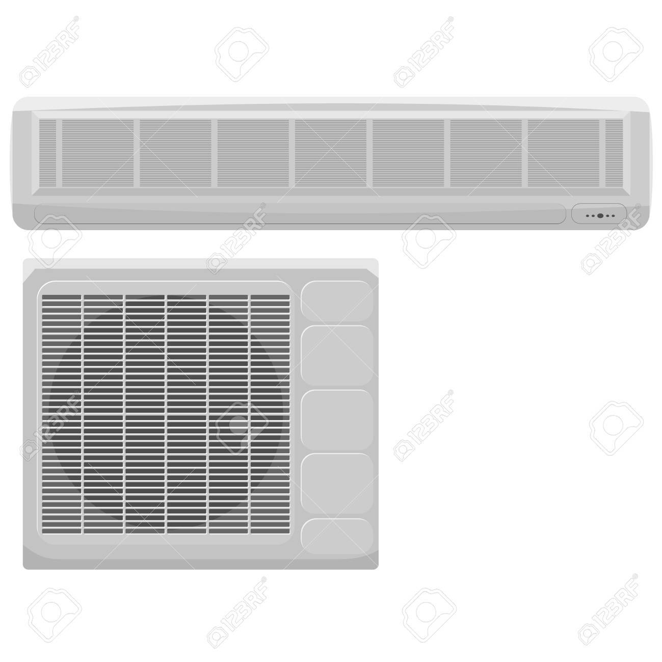 Vector illustration of modern air conditioning on a white background Stock Vector - 12021485