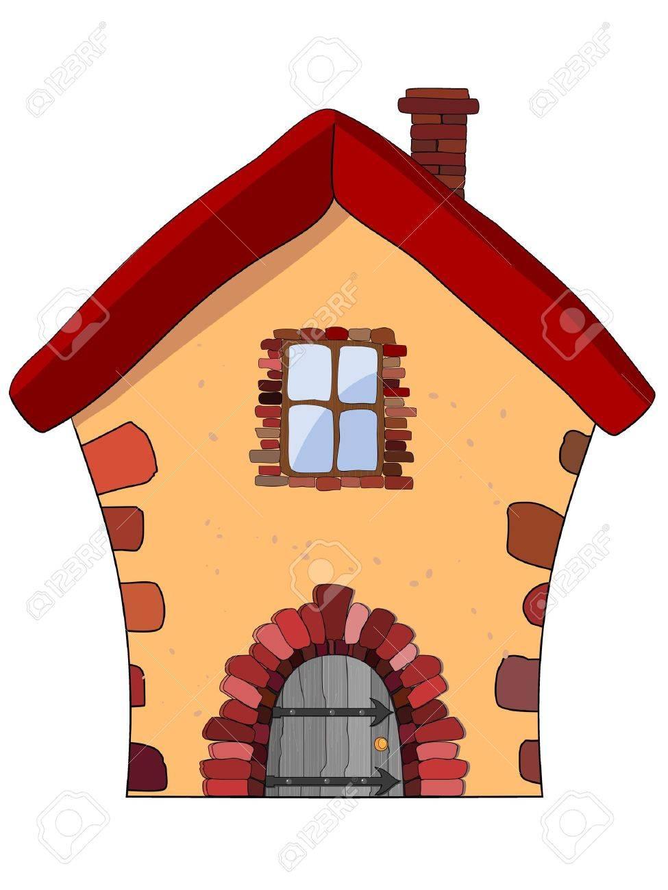 石造りの家のベクトル イラスト ロイヤリティフリークリップアート