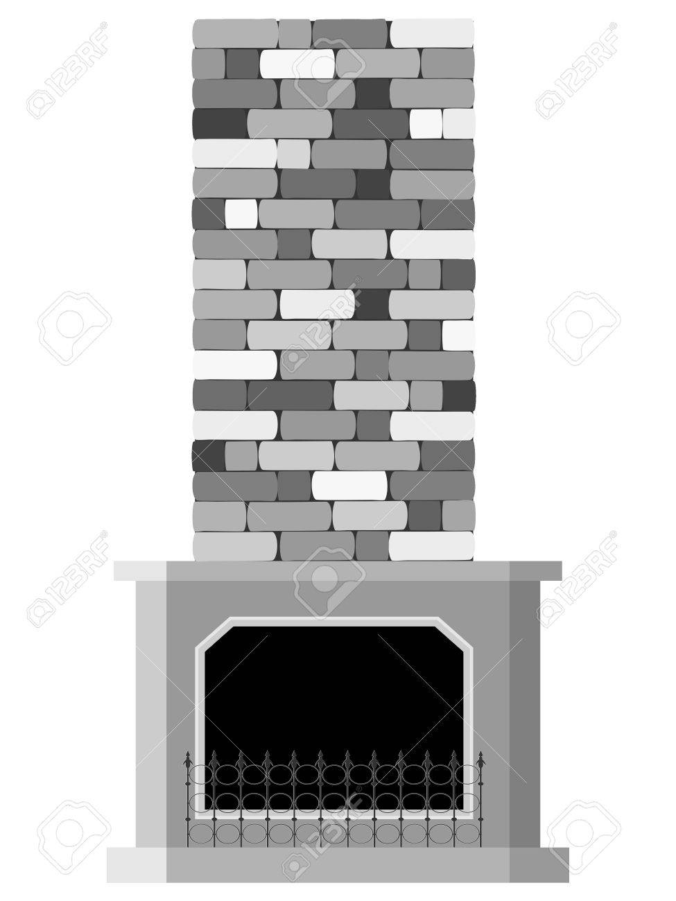 Vector illustration of the fireplace Stock Vector - 12021461