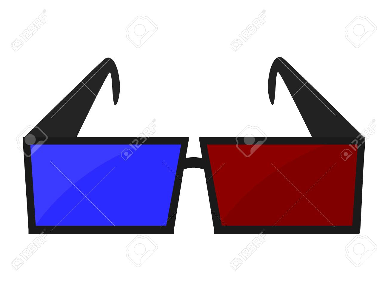 3d Movie Glasses Stock Vector - 12494269