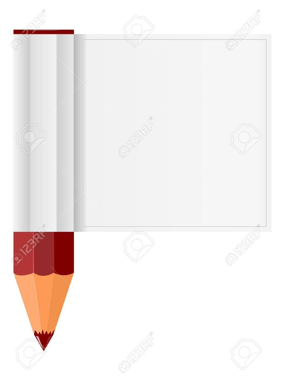Pencil and piece Stock Vector - 12494274