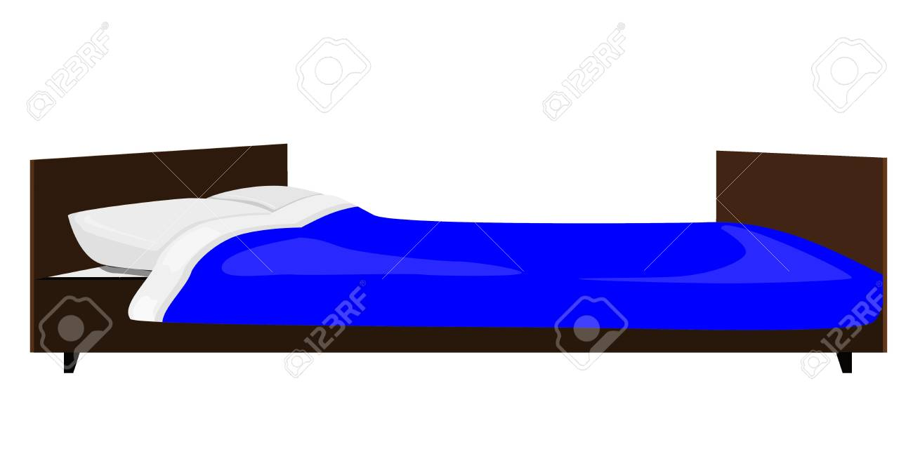 illustration of the bed Stock Vector - 12870175
