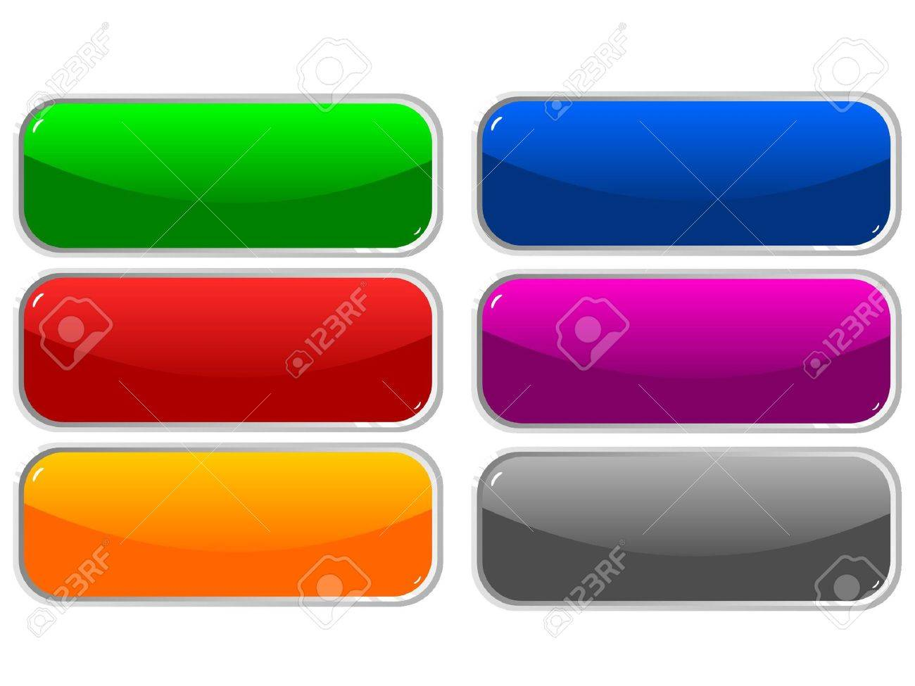 Web shiny buttons illustration Stock Vector - 12976363