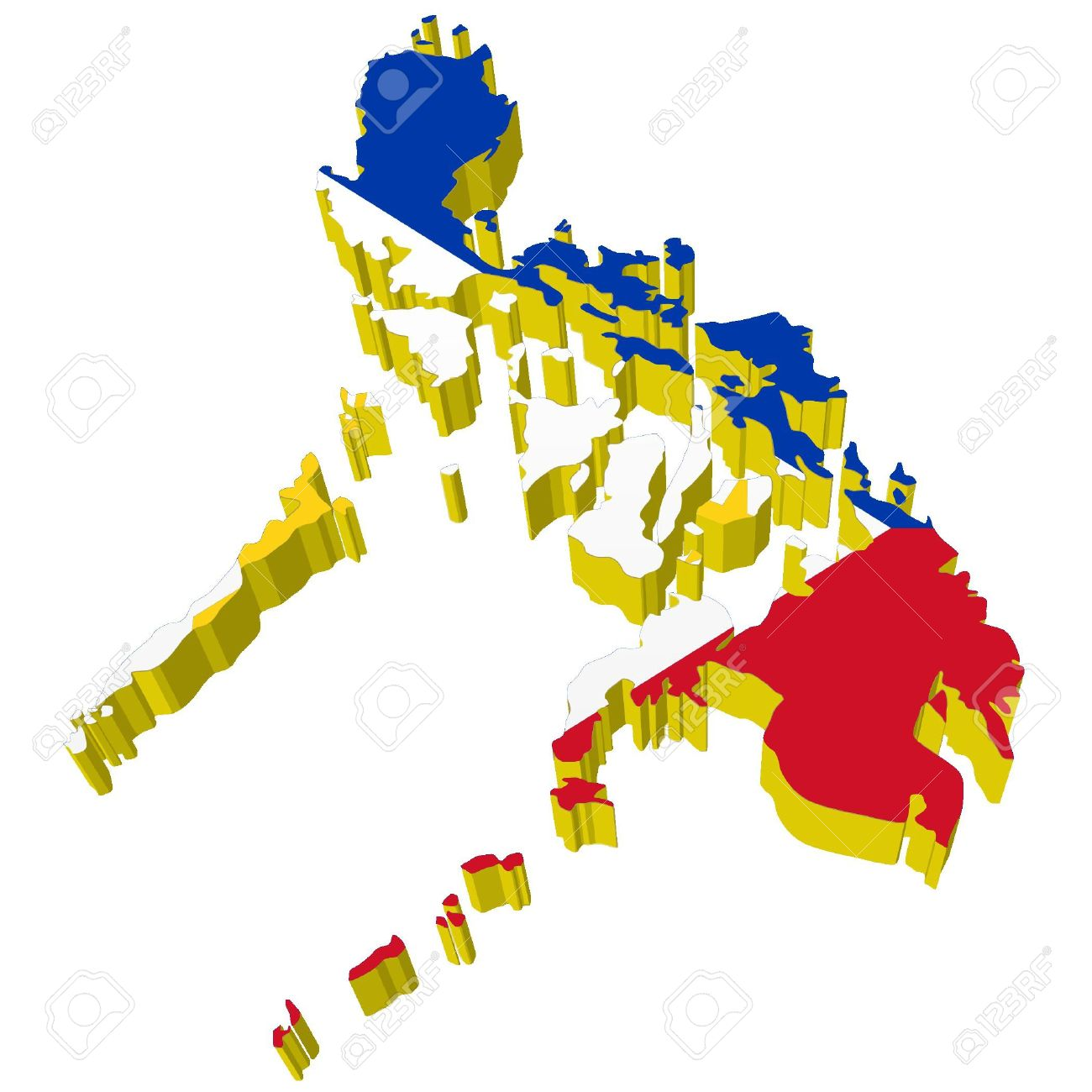 Map Of The Philippines 3D Vectors 3D Map Of Philippines Royalty Free Cliparts, Vectors, And