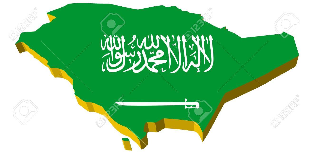 Saudi Arabia Map 3d Vectors 3d Map of Saudi Arabia