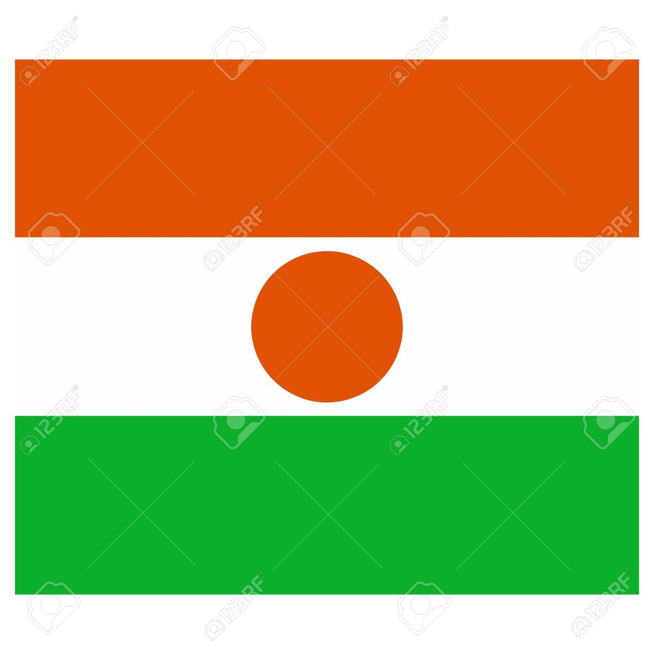 Vector illustration of the flag of Niger Stock Vector - 13340863