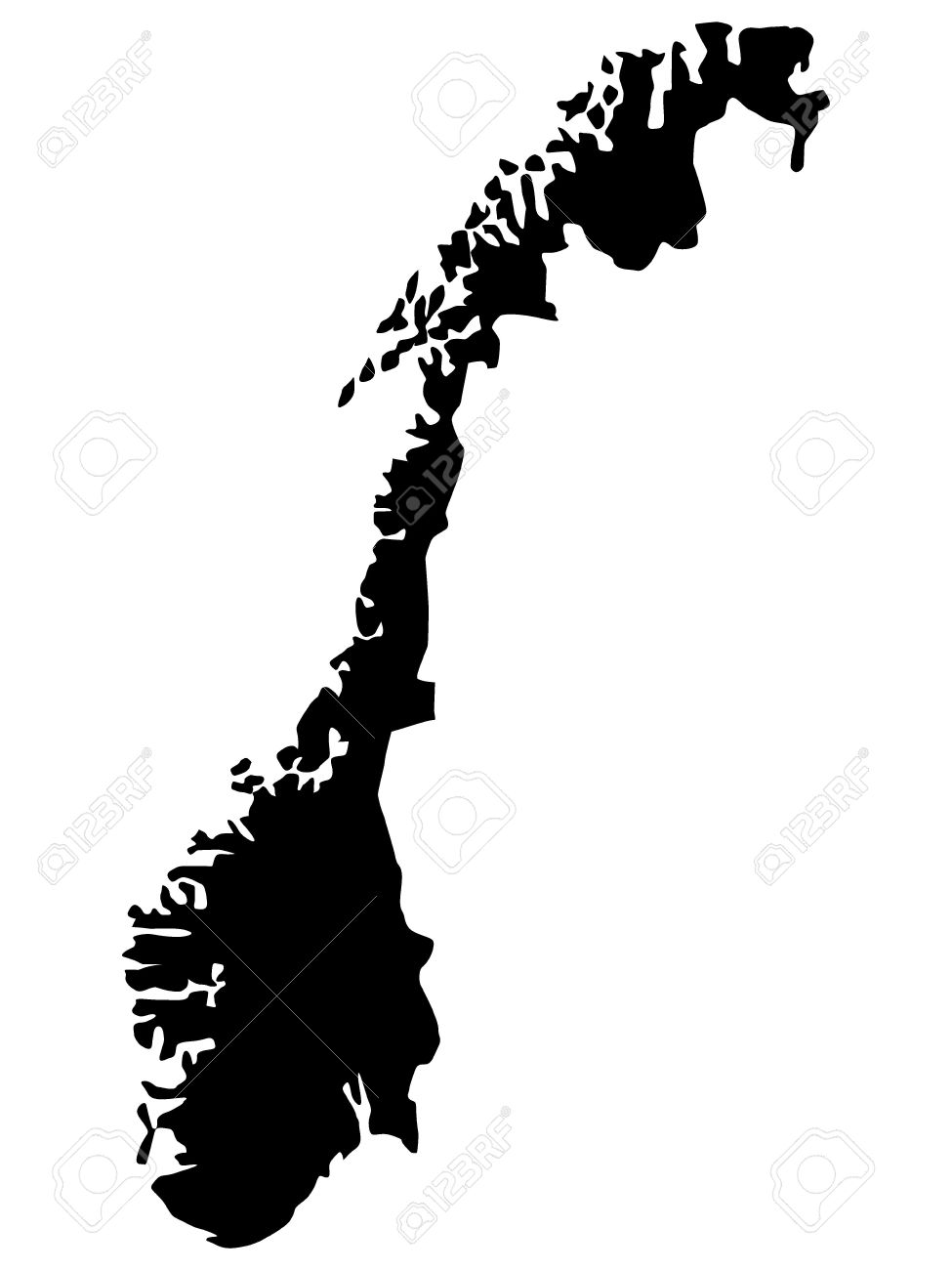 Vector Illustration Of Maps Of Norway Royalty Free Cliparts - Norway map clipart