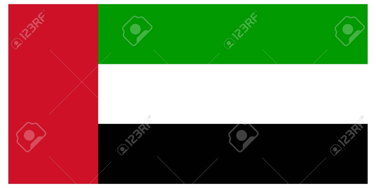 Vector illustration of the flag of  United Arab Emirates Stock Vector - 13340844