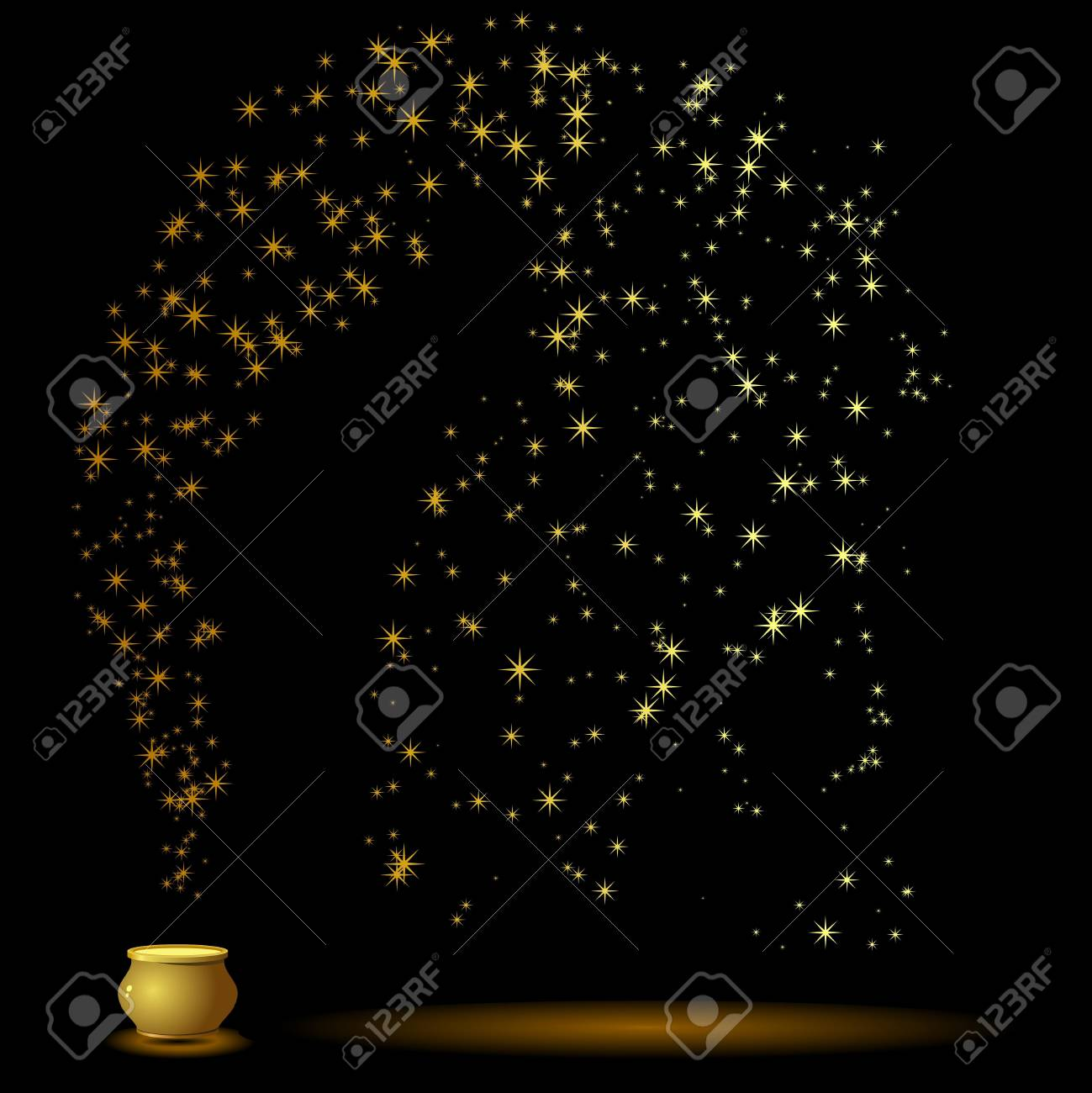Magic bowler and star Stock Vector - 14524319