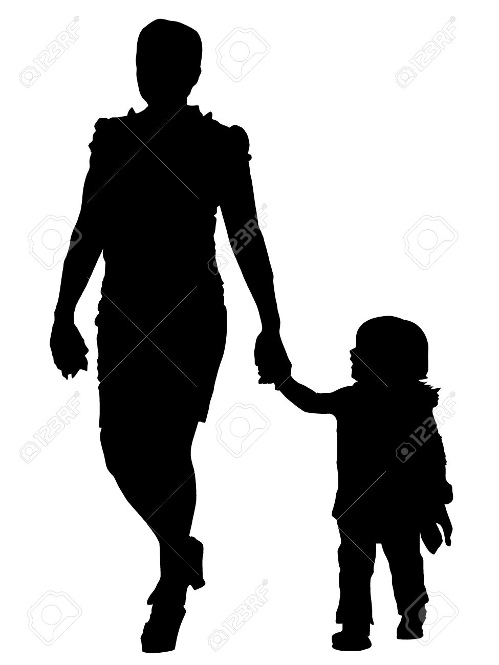 Vector Mother and baby Stock Vector - 15522658