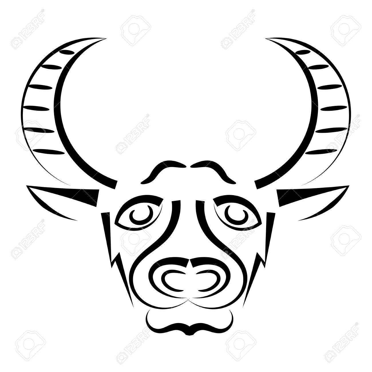 Abstract silhouette of a bull Stock Vector - 15930957