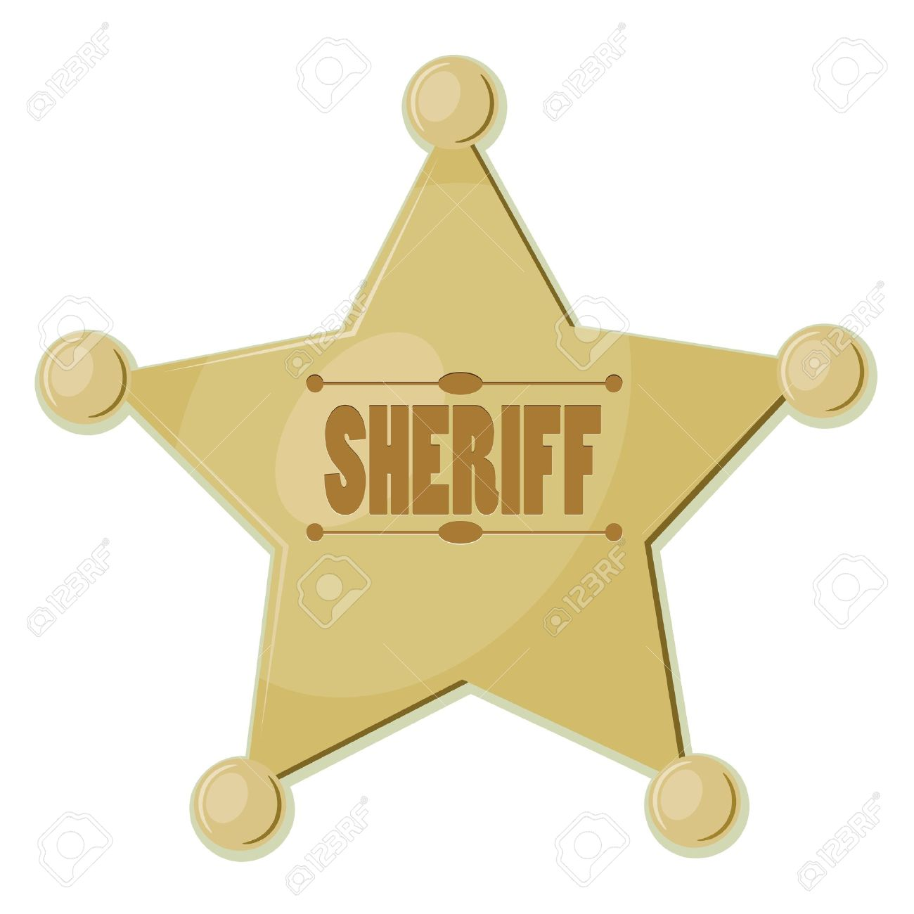 Cartoon Star Sheriff Eps10