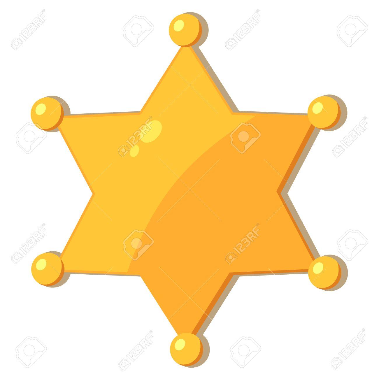 Cartoon Cowboy Star Sheriff