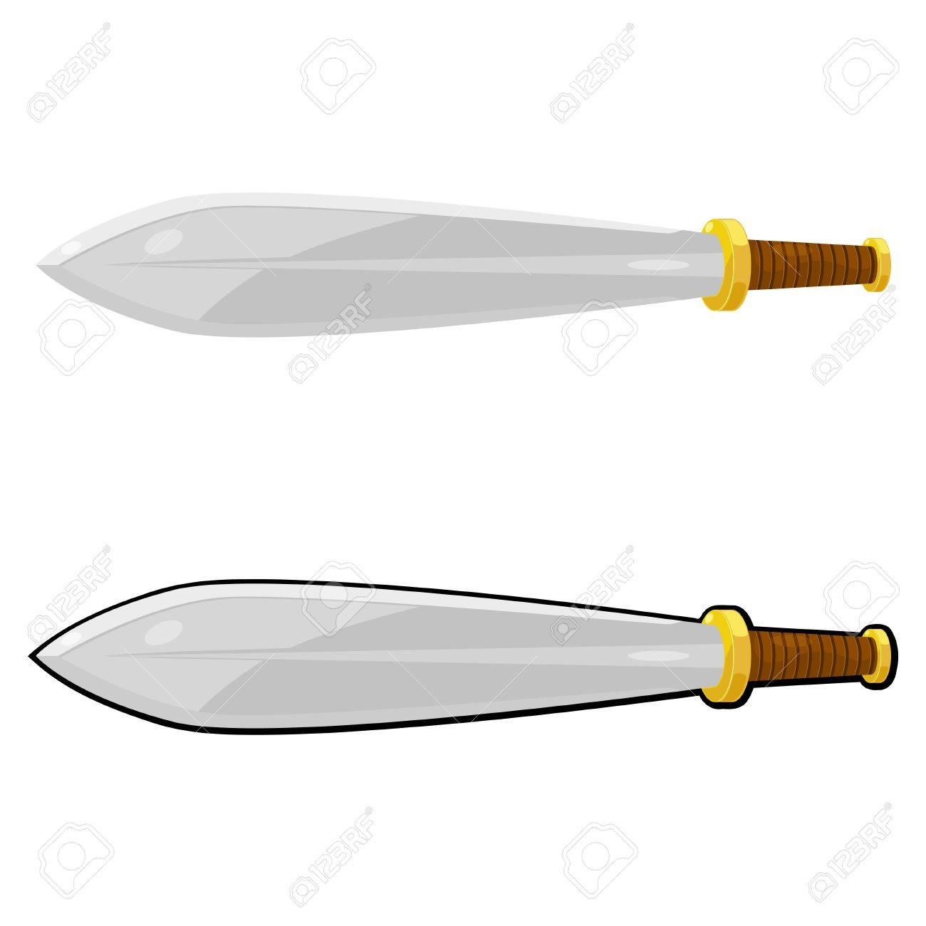 Cartoon sword. Stock Vector - 16109064