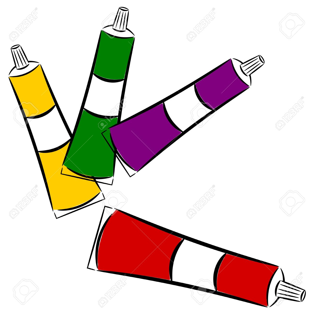 Cartoon Tubes Of Paint Royalty Free Cliparts Vectors And Stock