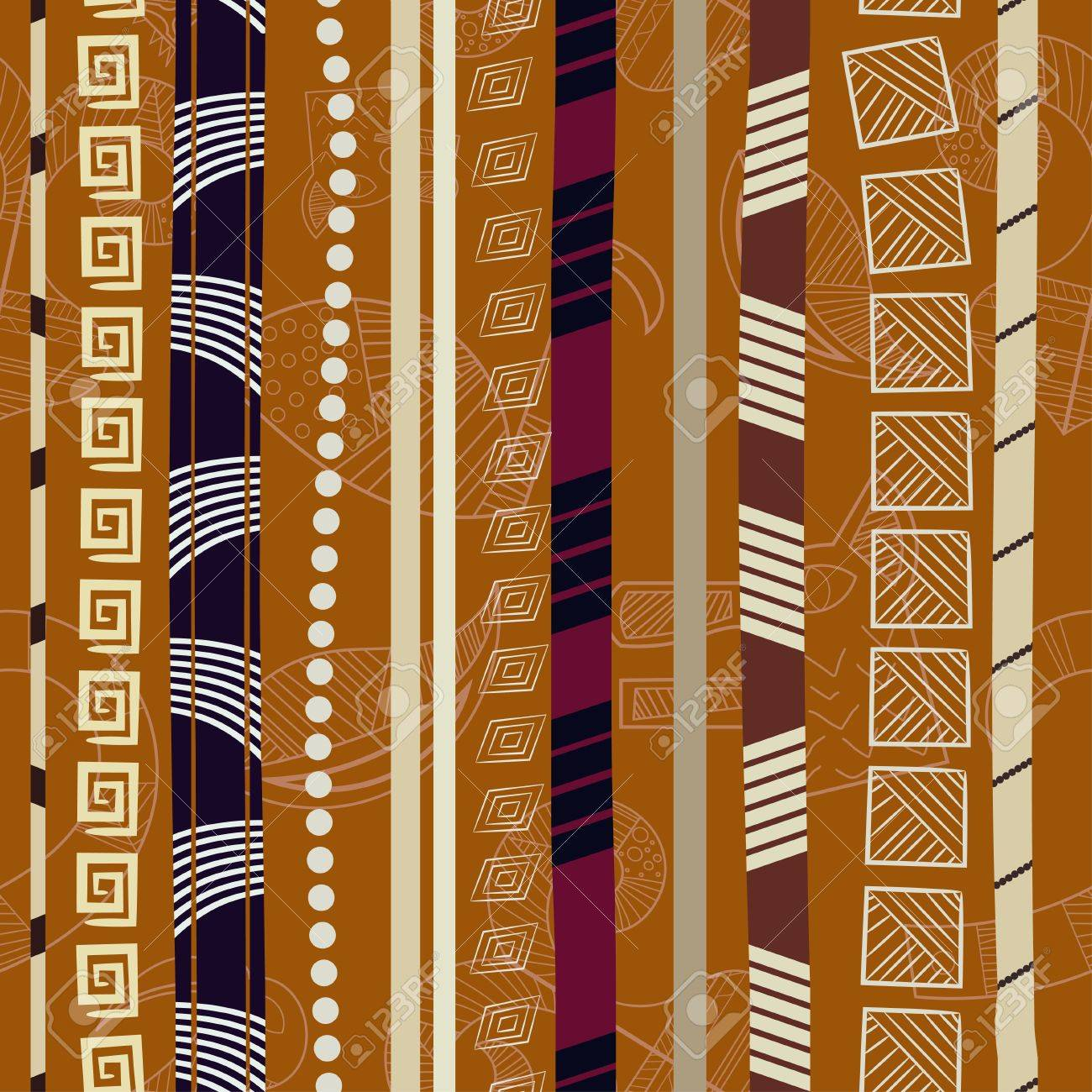 Tribal Colorful seamless texture Stock Vector - 17900239