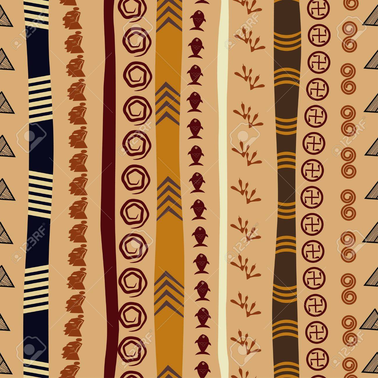 Seamless texture with African motifs Stock Vector - 17900233