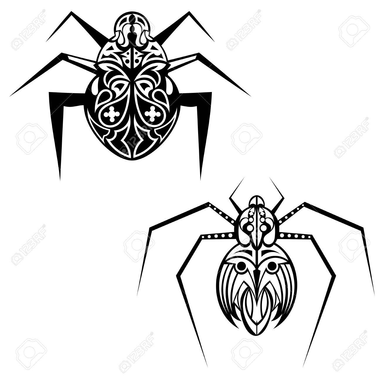 Spider tattoo Stock Vector - 18026513