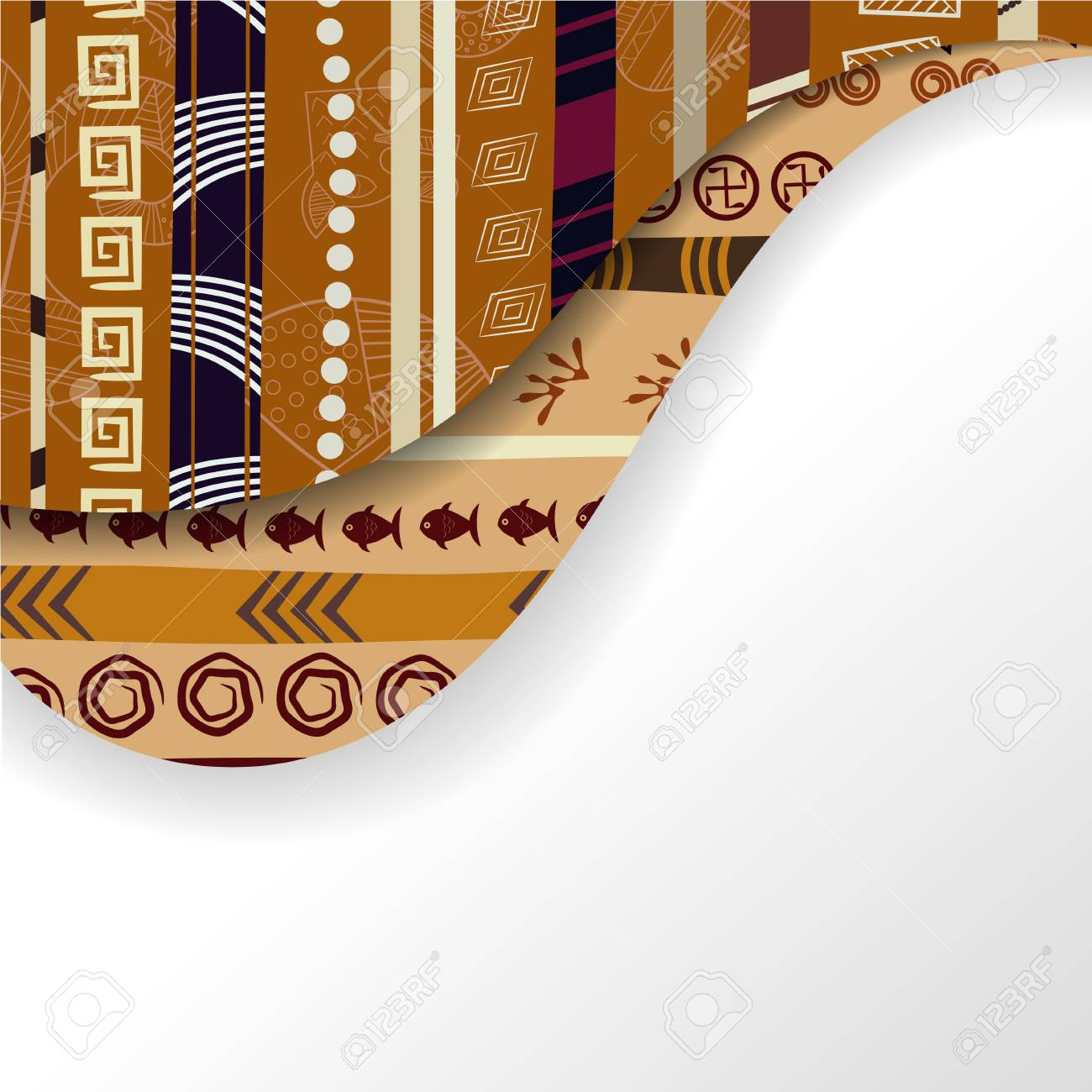 Abstract background with African elements Stock Vector - 18218211
