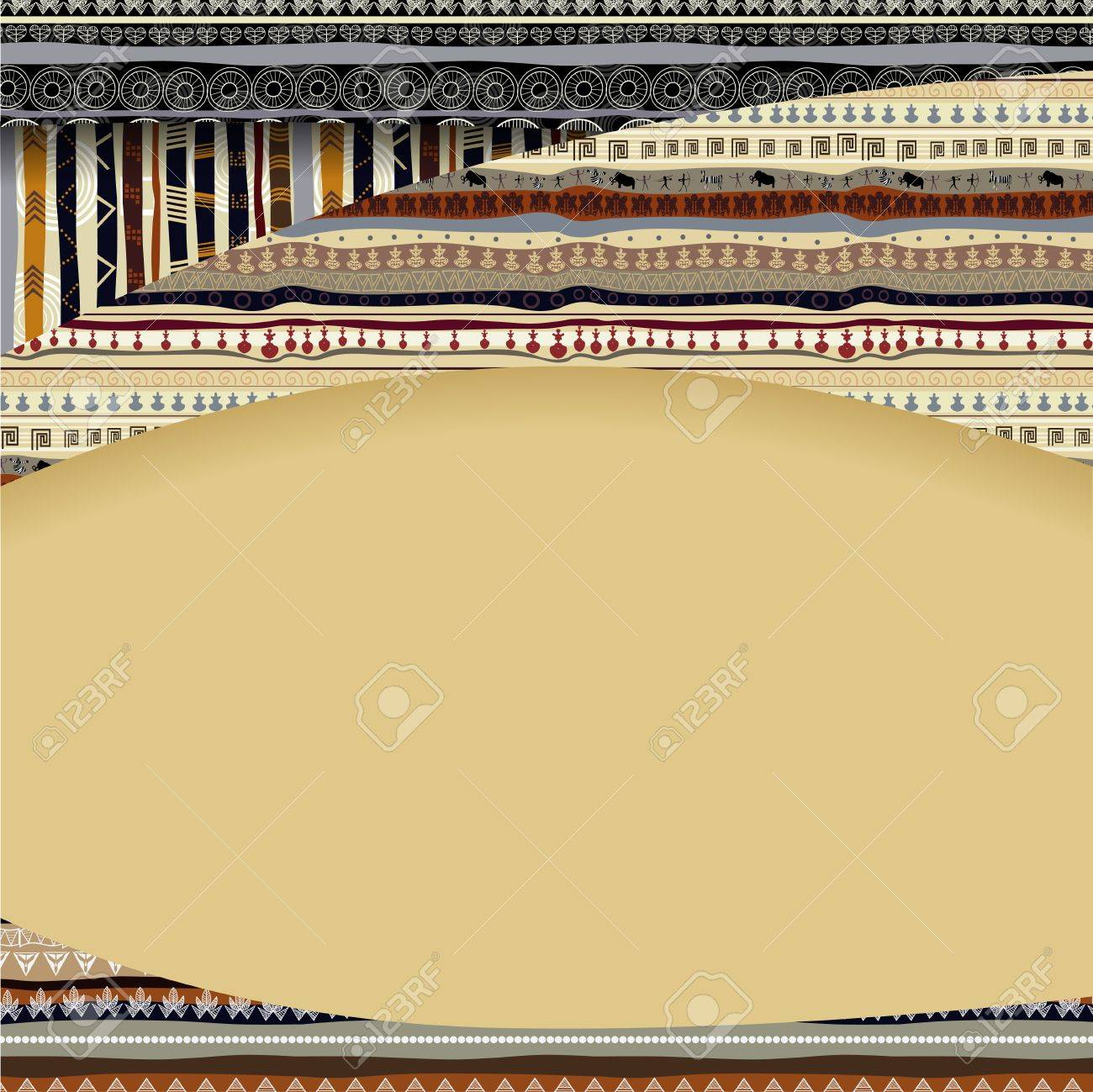 Background with African textil textures Stock Vector - 18218217