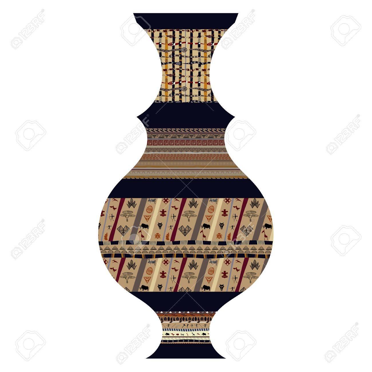 Tribal vase Stock Vector - 18418216
