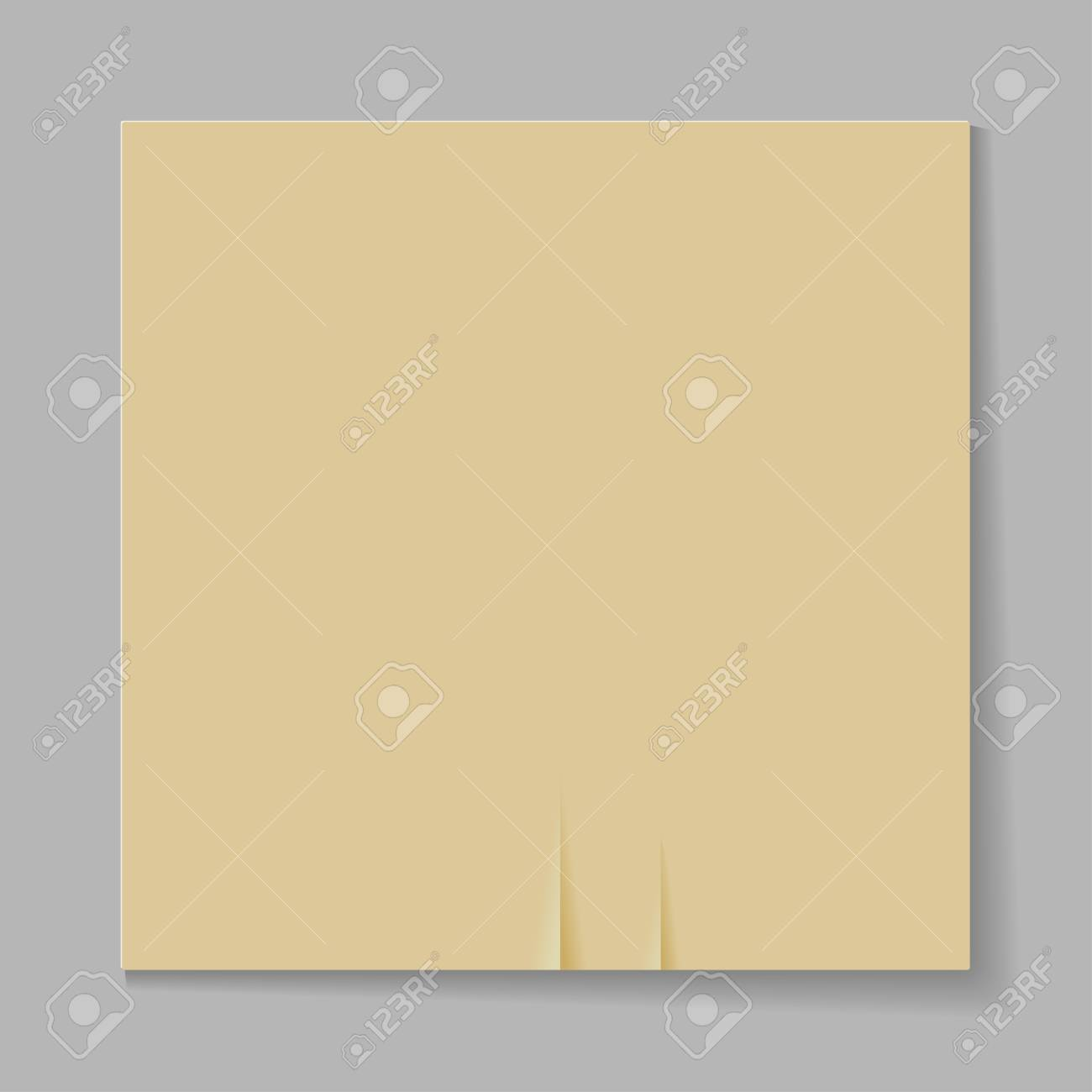 Illustration of a sheet of paper on a gray background Stock Vector - 20594430