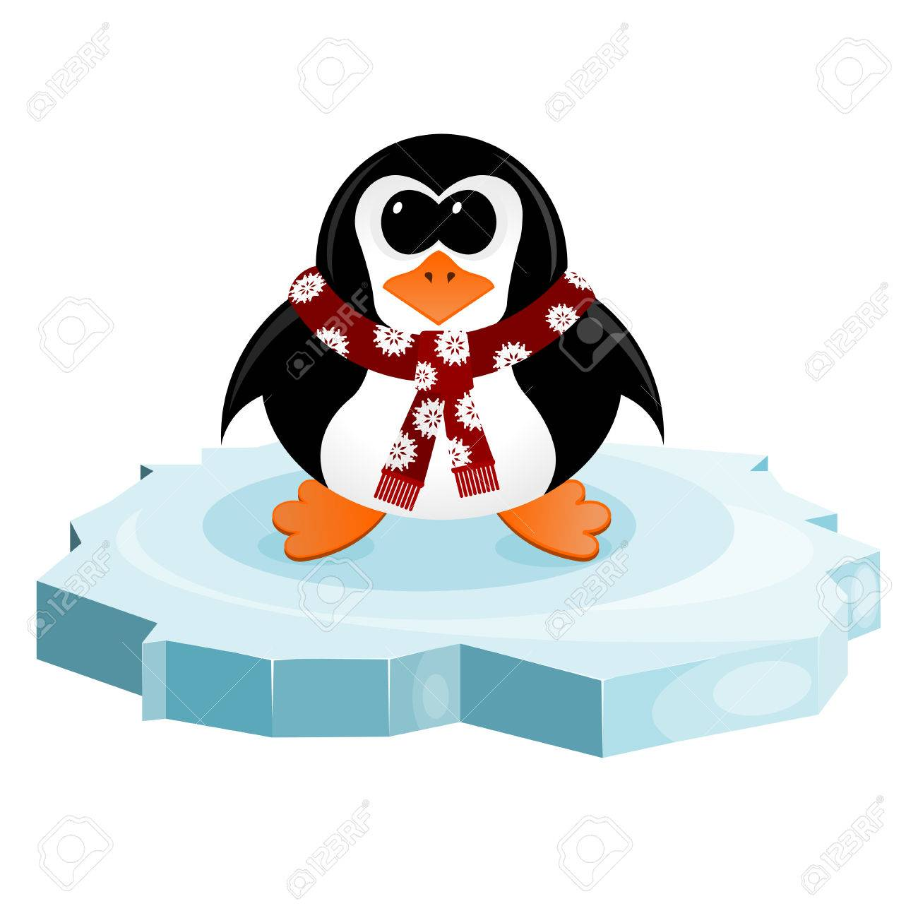 Penguin on an ice floe Stock Vector - 24080214
