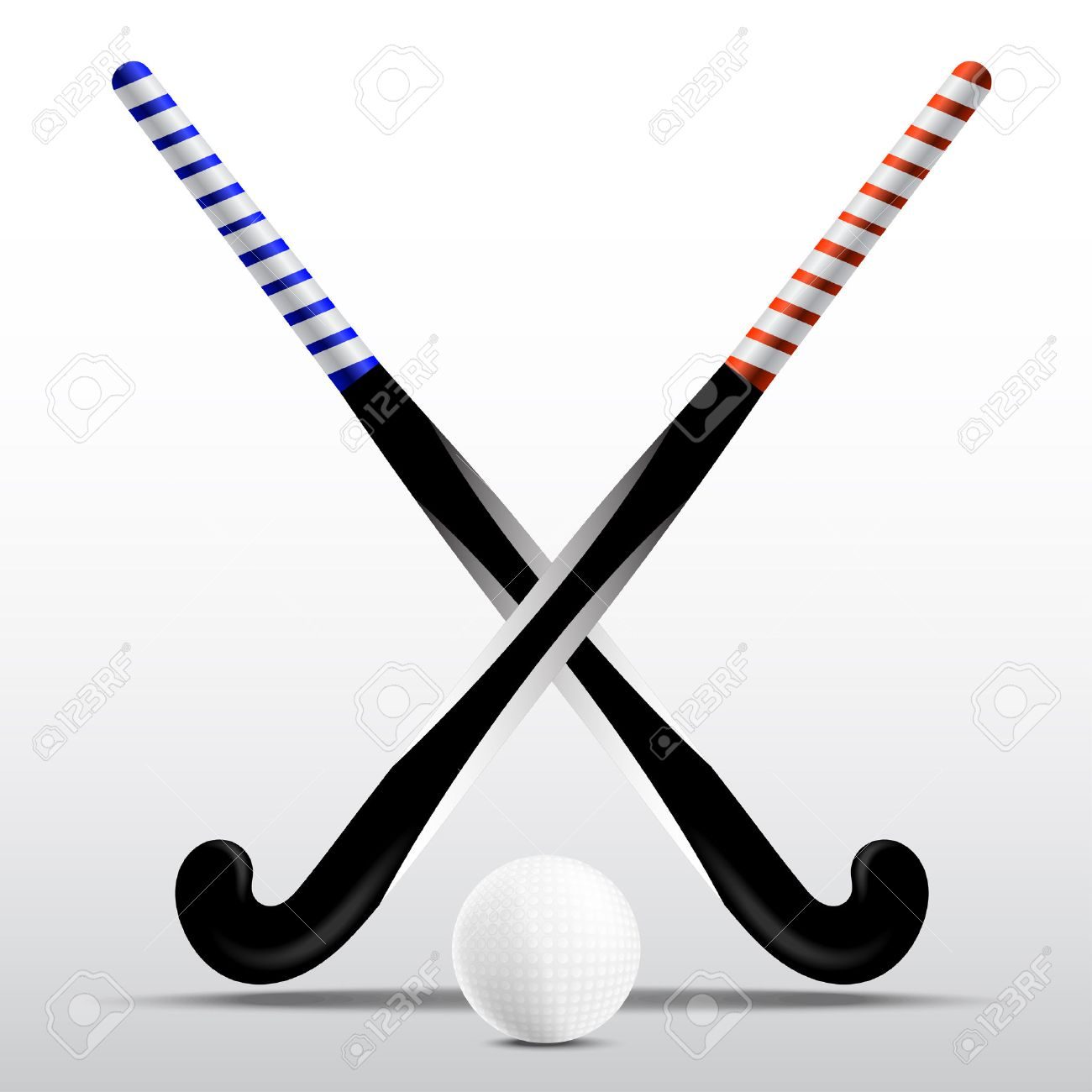 2782 field hockey stock vector illustration and royalty free two sticks for field hockey and ball on a white background biocorpaavc Image collections