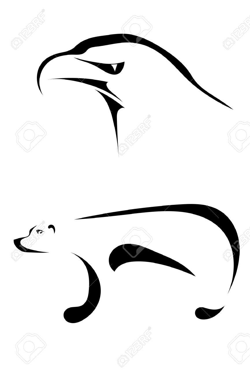 8 429 polar bear stock vector illustration and royalty free polar