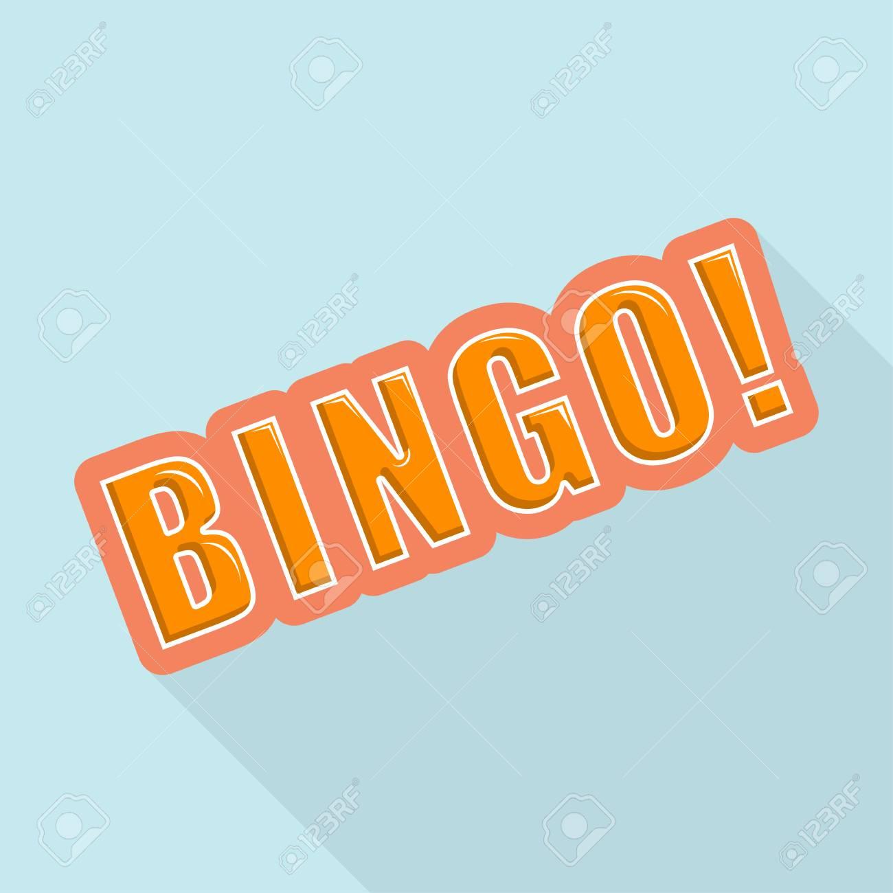 Cartoon BINGO. Design element for the site. Vector illustration Stock Vector - 29070058