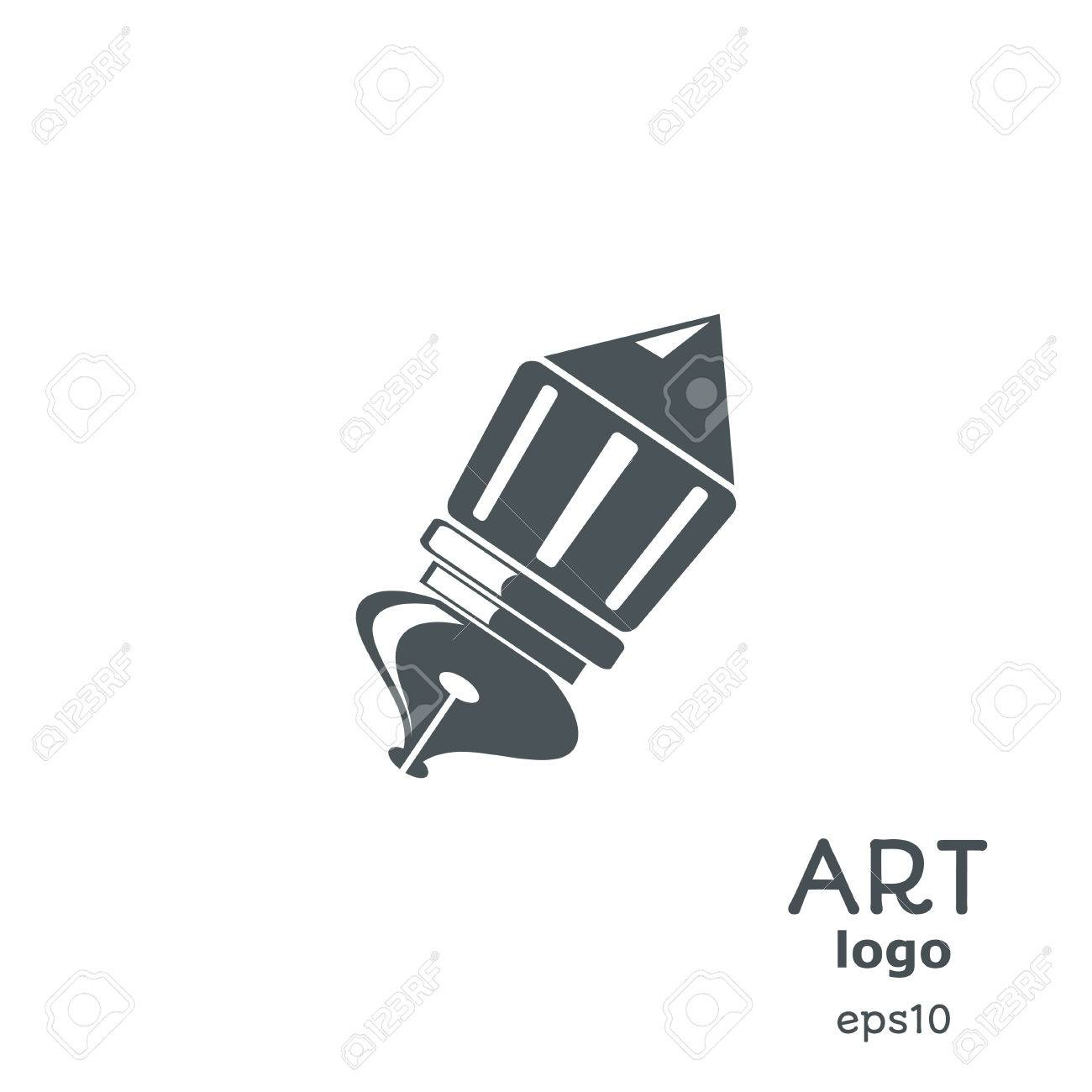 Banner with a pen brush and the text block communication your banner with a pen brush and the text block communication your logo office biocorpaavc Choice Image