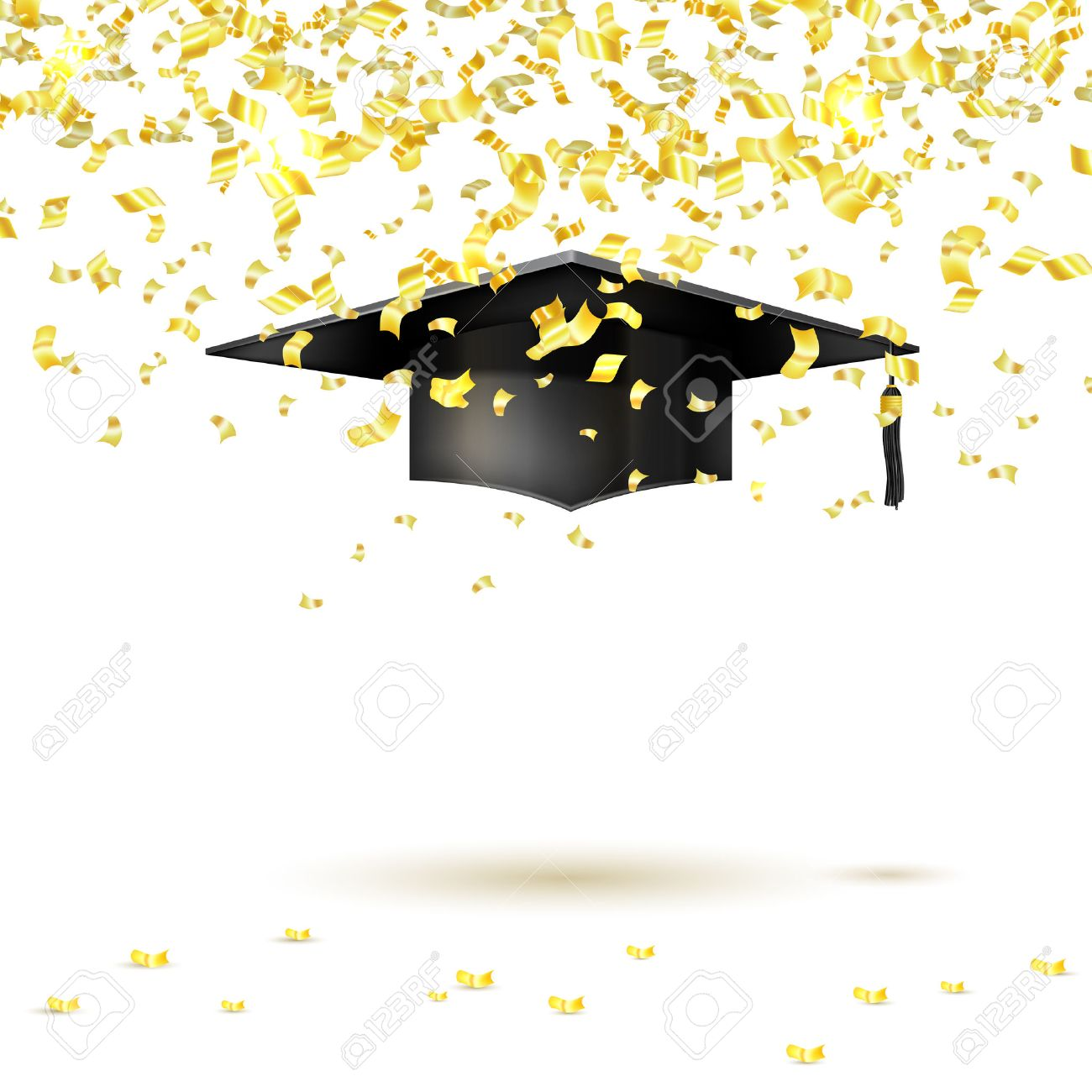 Yellow Creative Converting Graduation Caps Confetti