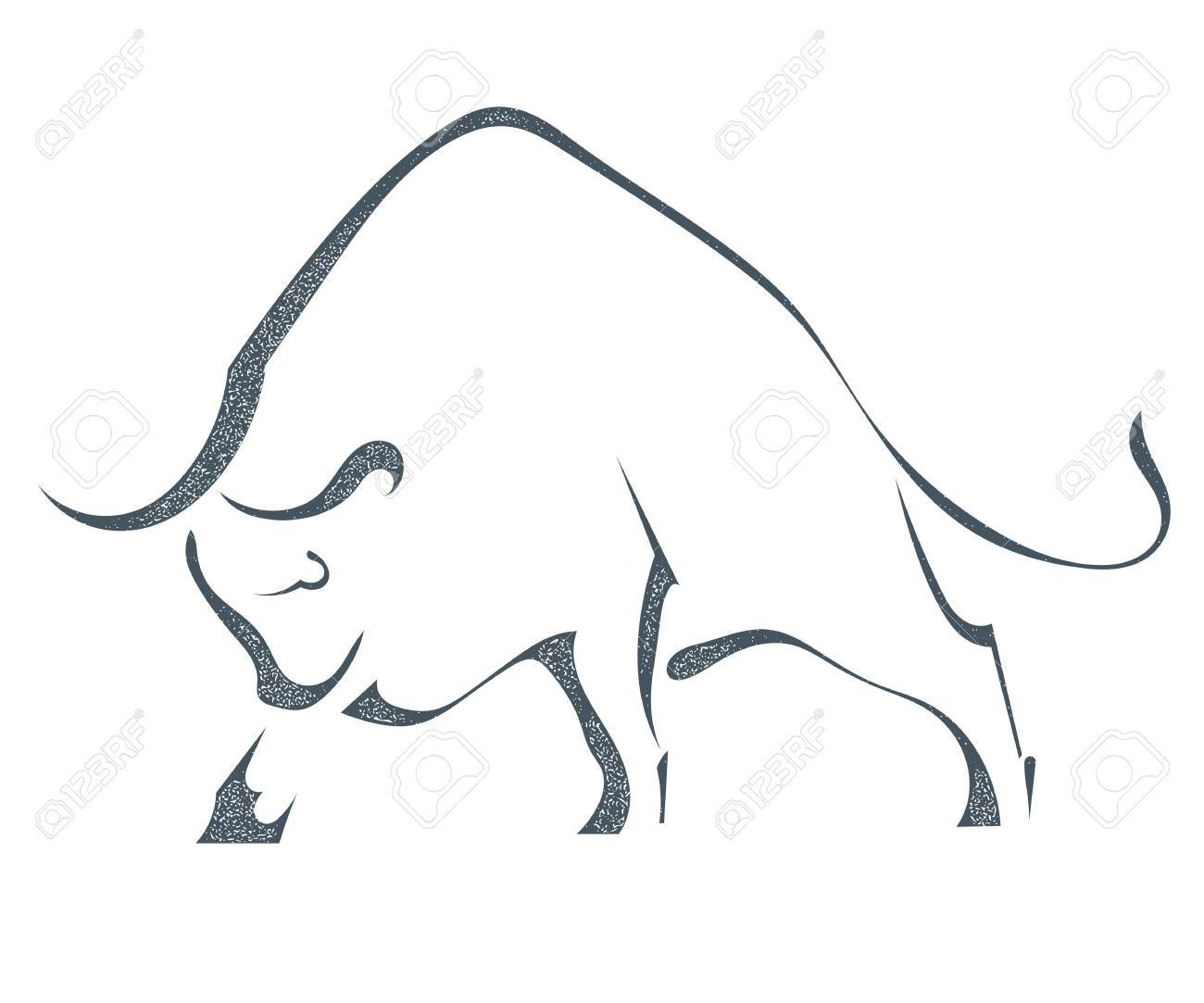 Angry Bull Silhouette