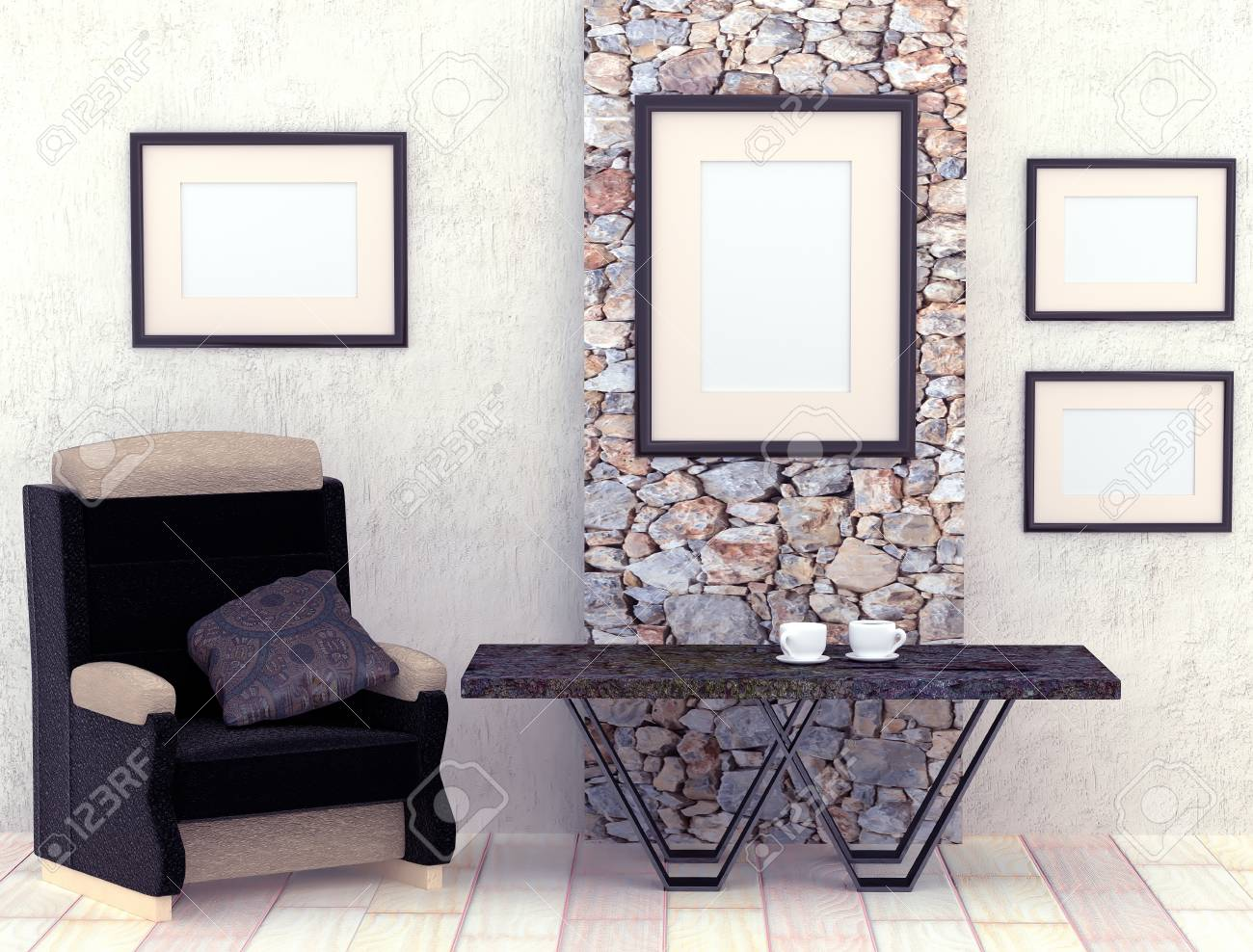 Fabulous Mocap Interior Living Room Room With Gray Plastered Walls And Download Free Architecture Designs Saprecsunscenecom