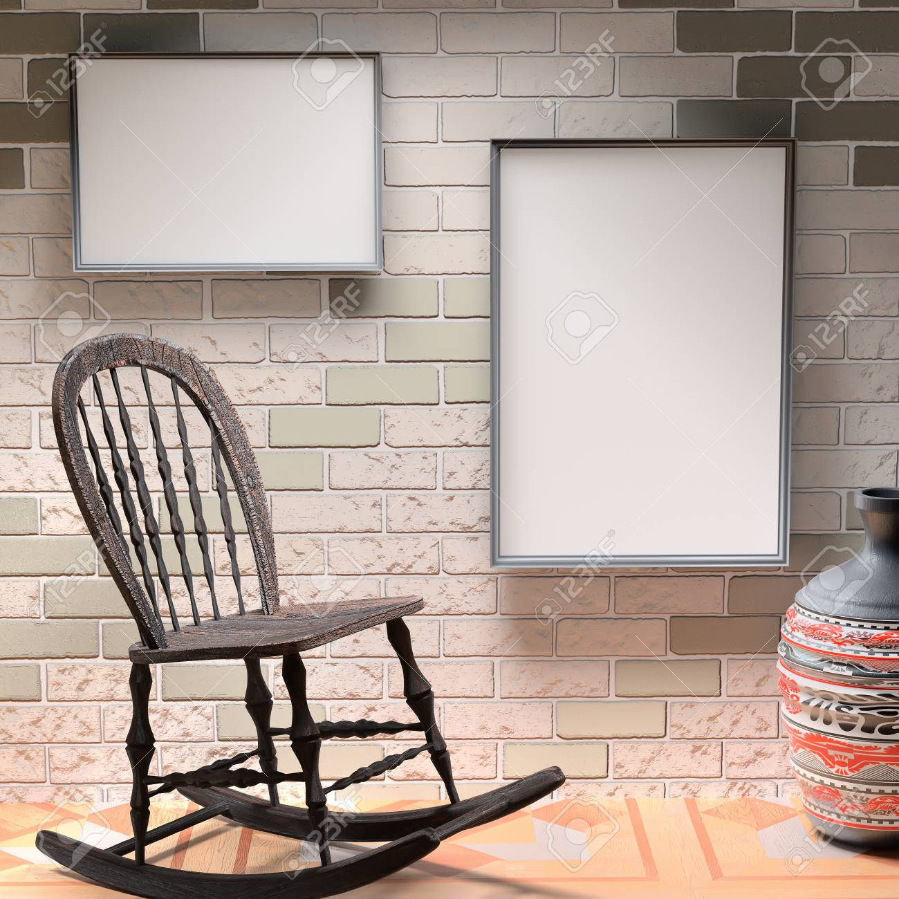 Amazing Mocap African Interior Wooden Rocking Chair And A Large Vase Bralicious Painted Fabric Chair Ideas Braliciousco