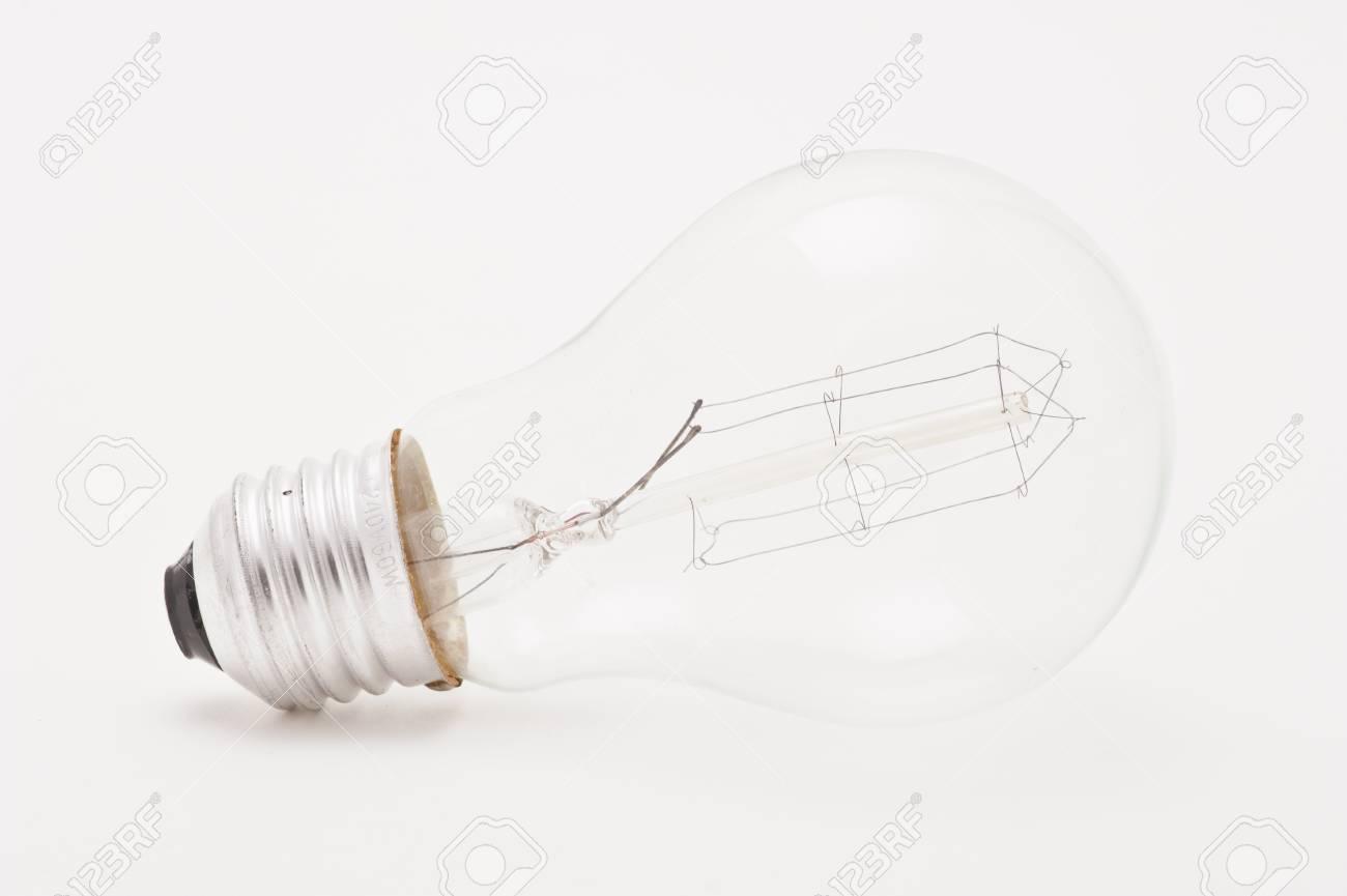 Studio shot of a light bulb on white background Stock Photo - 12636377