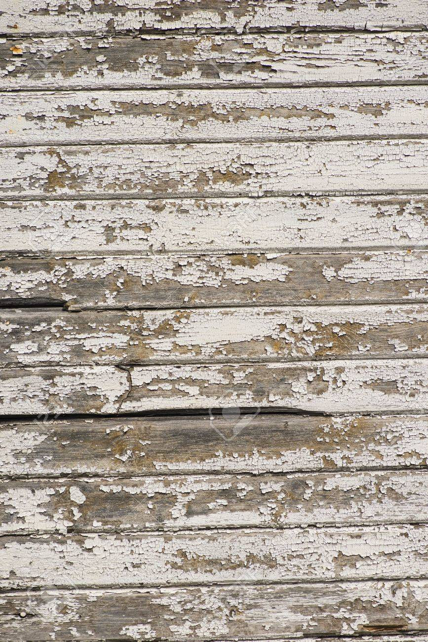 Seamless closeup of white wall on retro building. Striped wooden panels which make a nice surface with rough texture. Stock Photo - 16935311