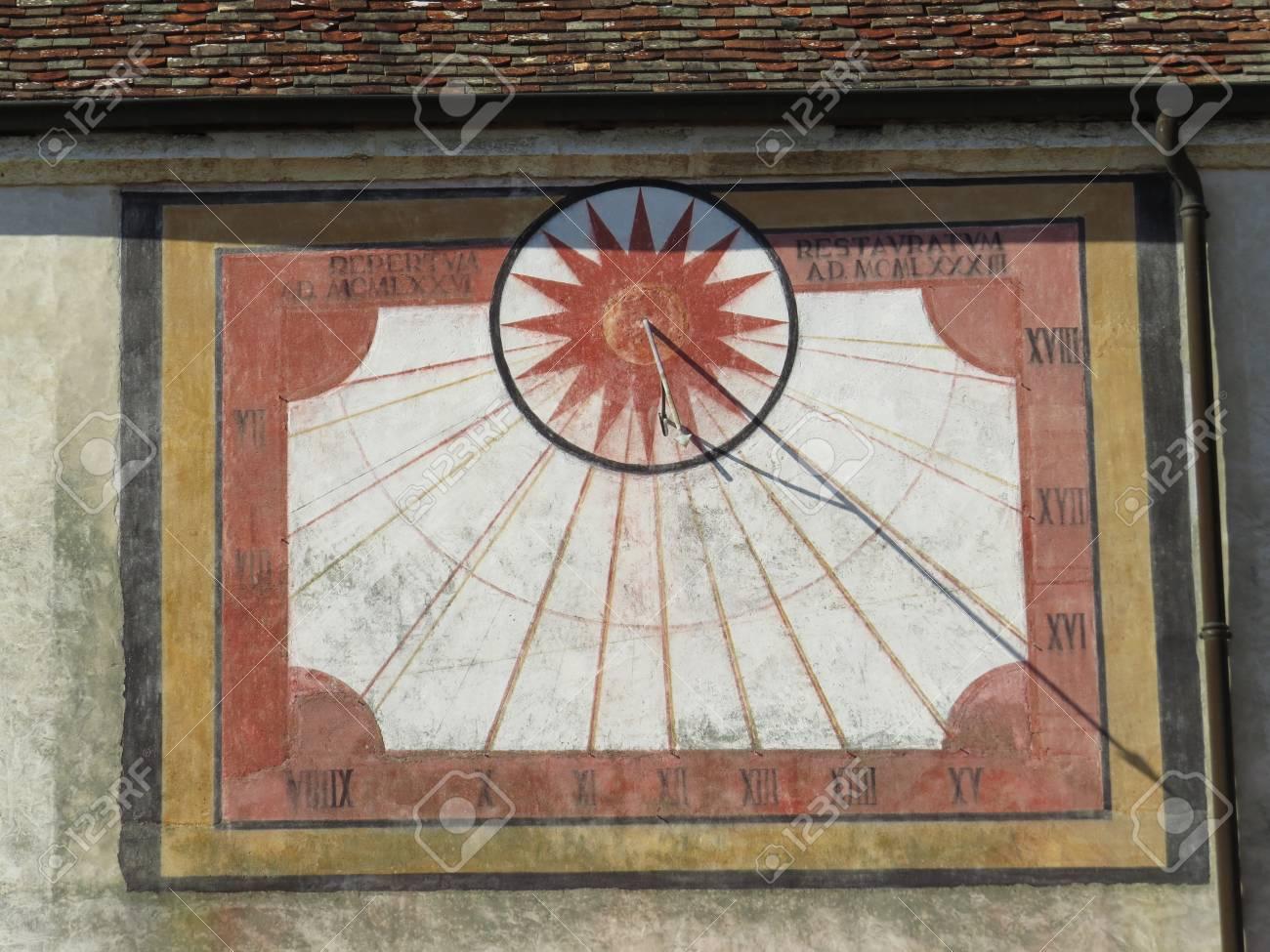 Solar calendar of the Notre-Dame Abbey Ambronay