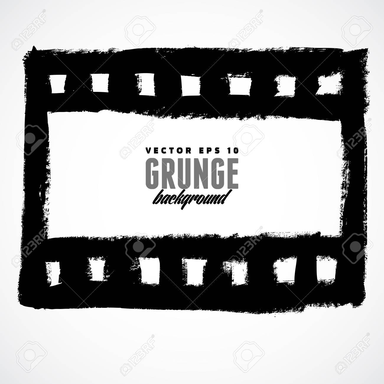 Vector Illustration Of A Grunge Filmstrip Frame. Royalty Free ...