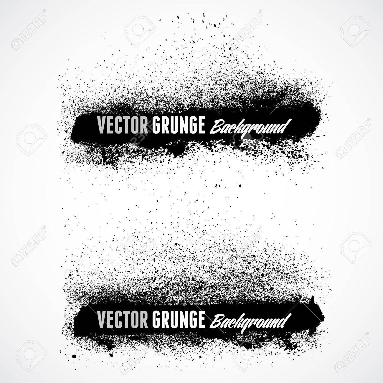 Grunge banner backgrounds in black color - 38591881