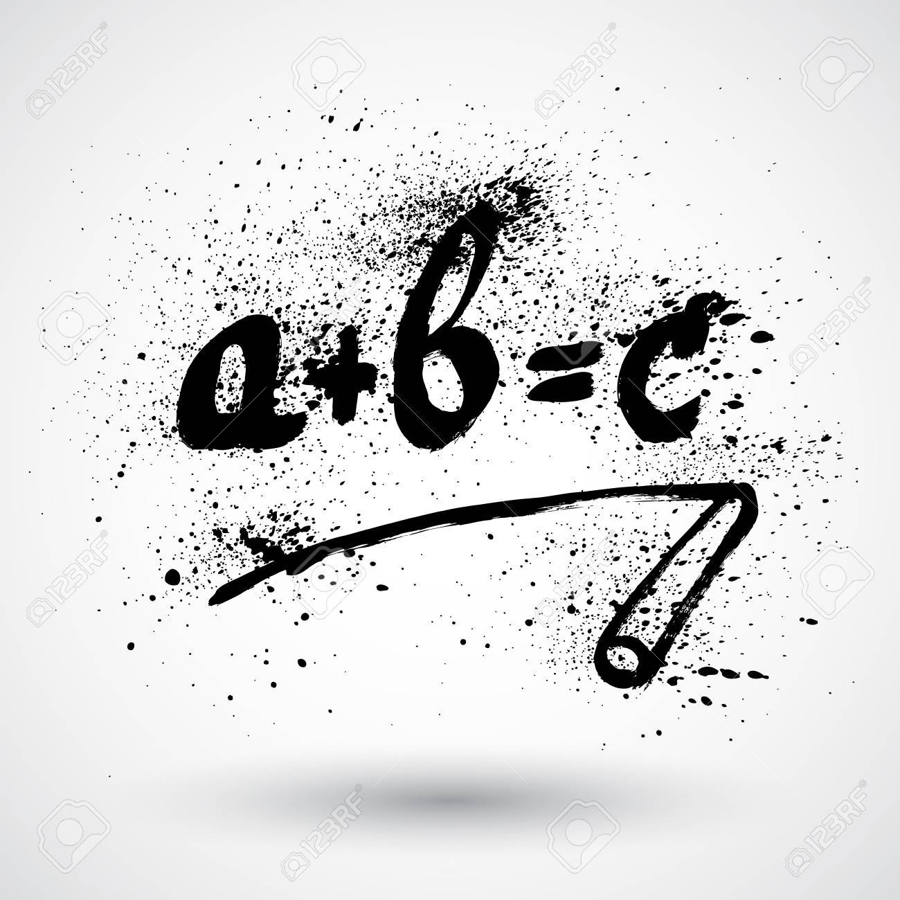Grunge Simple Math Formula Icon Royalty Free Cliparts, Vectors, And ...