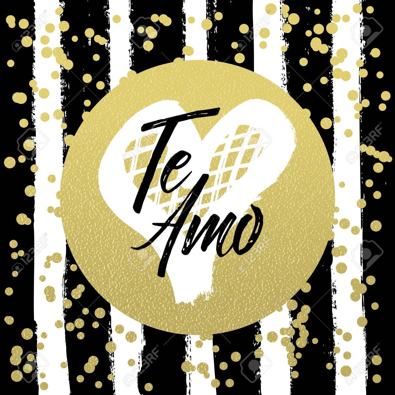 Te Amo Je Taime En Langue Espagnole Valentine Lettrage Collection Damour Lettrage Dessiné à La Main Avec Un Beau Texte Sur Lamour Parfait Pour