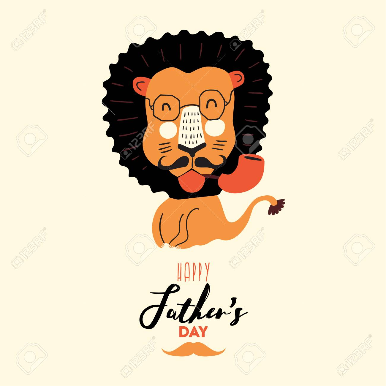 Happy Fathers Day Greeting Card Design For Mens Event Banner