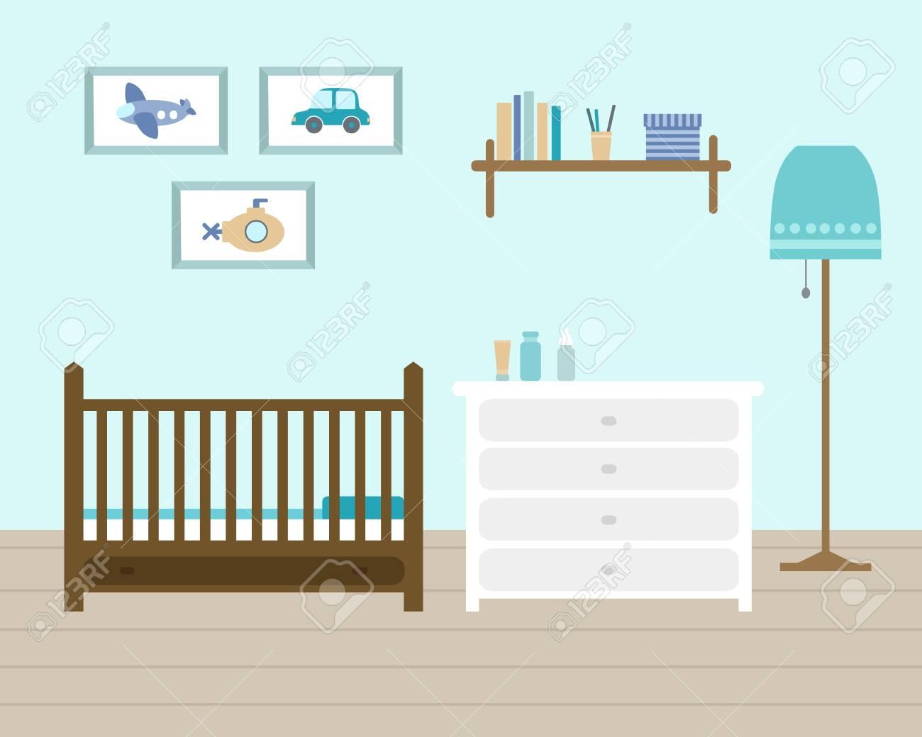 Wunderschön Jungen Babyzimmer Galerie Von Kinderzimmer Für Den Neugeborenen Jungen. Mit Möbeln.